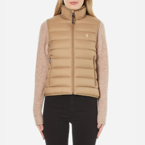 Polo Ralph Lauren Women's Lightweight Nylon Puffa Vest Jacket - Cappuccino