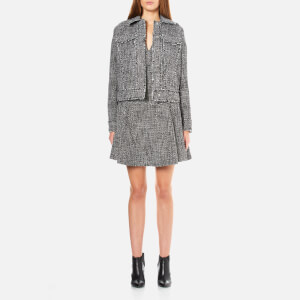MICHAEL MICHAEL KORS Women's Fray Tweed Jacket - Black