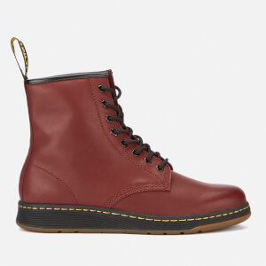 Dr. Martens Newton Lite Temperley Leather 8-Eye Boots - Cherry Red