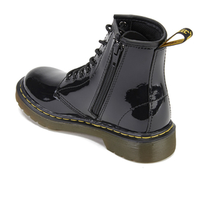 Dr. Martens Kids' 1460 J Patent Lamper Lace Up Boots - Black: Image 4