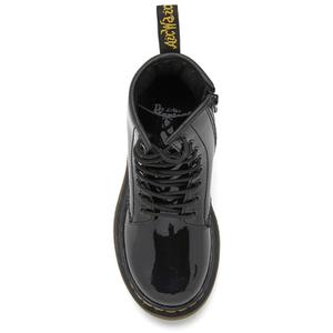 Dr. Martens Kids' 1460 J Patent Lamper Lace Up Boots - Black: Image 3