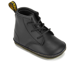 Dr. Martens Babies Auburn Kid Lamper Leather Boots - Black: Image 2