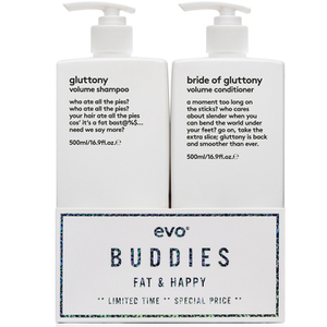 Evo Buddies 'Fat & Happy' Shampoo and Conditioner Duo