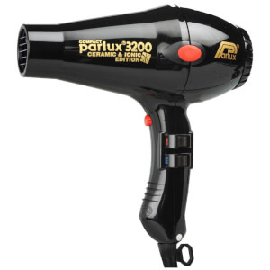 Parlux 3200 Compact Ceramic & Ionic Hair Dryer 1900W - Black