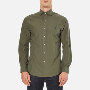 Polo Ralph Lauren Men's Long Sleeve Poplin Shirt - Rustic Sage
