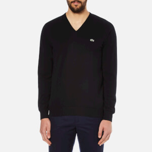 Lacoste Men's V-Neck Jumper - Black