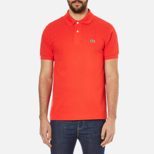 Lacoste Men's Basic Pique Short Sleeve Polo Shirt - Redcurrent Bush
