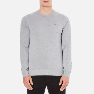 Lacoste Men's Crew Neck Jumper - Silver Chine