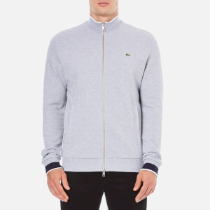 Lacoste Men's Zip Through Sweatshirt - Silver Chine