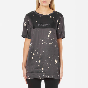 Alexander Wang Women's T-Shirt with Splatter Print and Patch - Grey