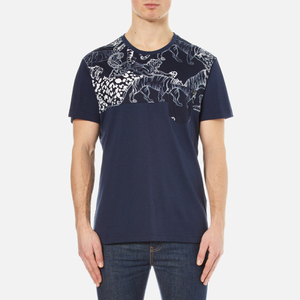 Versace Collection Men's All Over Print Polo Shirt - Multi