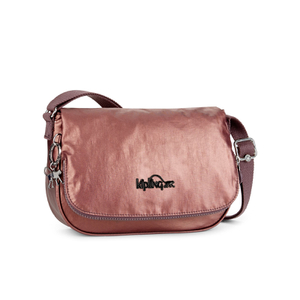 Kipling Women's Earthbeat Small Cross Body Bag - Metalic Plum