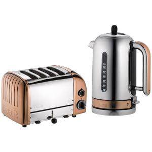 Dualit Classic Vario 4 Slot Toaster & Kettle Bundle - Copper
