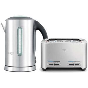 Sage by Heston Blumenthal The Smart Toast 4 Slice Toaster & Kettle Bundle
