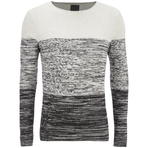 Produkt Men's Basket Contrast Graded Jumper - Cloud Dancer