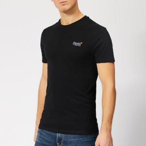 Superdry Men's Orange Label Vintage Embroidery T-Shirt - Black