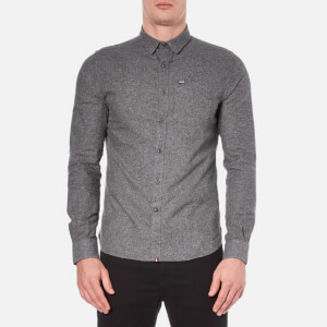 Superdry Men's Academy Oxford Long Sleeve Shirt - Carbon Marl