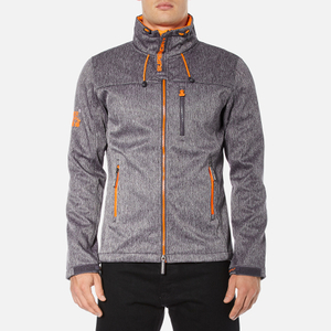 Superdry Men's Windtrekker Coat - Dark Grey Grit/Fluro Orange