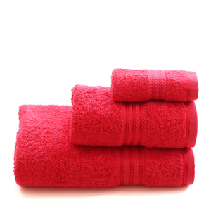 Restmor 100% Egyptian Cotton 3 Piece Towel Bale - Red