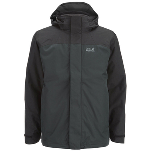 Jack Wolfskin Men's Echo Bay 3-in-1 Jacket - Black