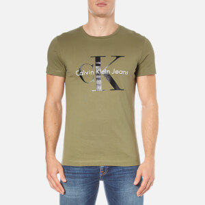 Calvin Klein Men's Re-Issue Crew Neck T-Shirt - Olive Knight