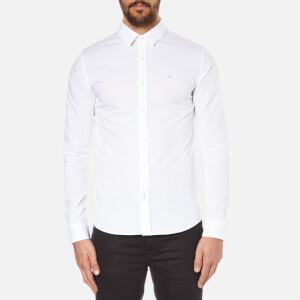 Calvin Klein Men's Wilbert Long Sleeve Shirt - Bright White
