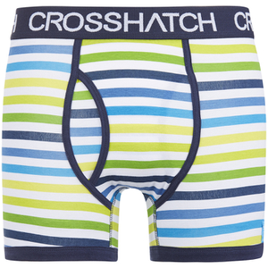 Lote de 2 bóxers Crosshatch Refraction - Hombre - Azul