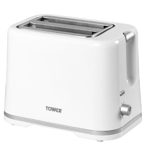 Tower T20009W 2 Slice Toaster - White