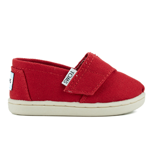 TOMS Toddlers' Seasonal Classics Slip-On Pumps - Red