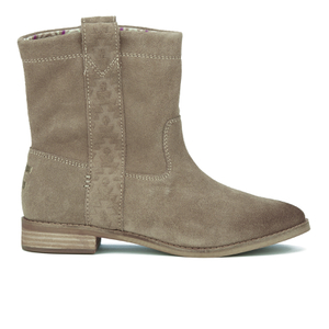 TOMS Women's Laurel Suede Pull On Slouch Boots - Amphora