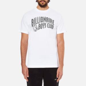 Billionaire Boys Club Men's Arch Logo Reflective Ski-Grid Short Sleeve T-Shirt - White
