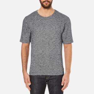 Folk Men's Textured T-Shirt - Navy/White