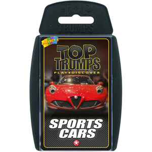 Top Trumps Card Game - Sports Cars Edition
