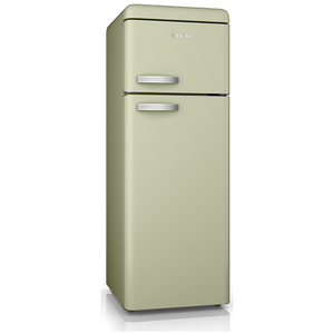 Swan SR11010GN Retro Top Mounted Fridge Freezer - Green