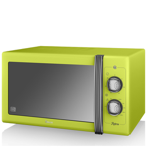Swan SM22070LN 25L Retro Manual Microwave - Lime
