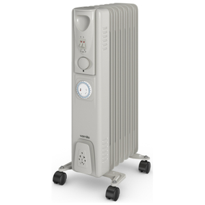Warmlite WL43003YT 1500W Oil Filled Radiator with Timer - Silver