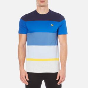 Lyle & Scott Men's Crew Neck Engineered Stripe T-Shirt - Navy