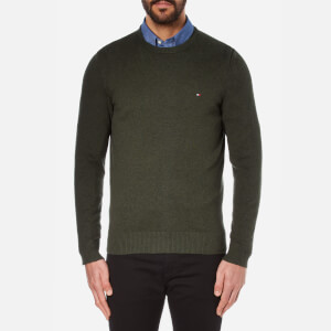 Tommy Hilfiger Men's Pima Cotton Cashmere Crew Neck Jumper - Rosin Heather