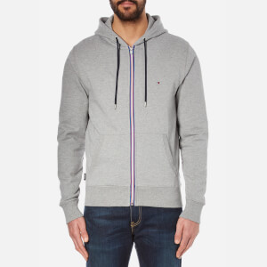 Tommy Hilfiger Men's Zip Through Hoody - Cloud Heather