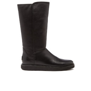UGG Women's Abree II Leather Classic Luxe Sheepskin Boots - Nero