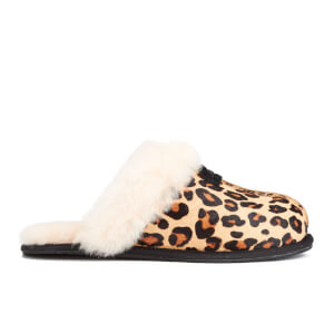 UGG Women's Scuffette II Calf Hair Leopard Slippers - Chestnut Leopard