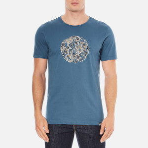 Pretty Green Men's Stretford Paisley Logo T-Shirt - Blue