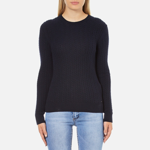 Superdry Women's Luxe Mini Cable Knit Jumper - Navy