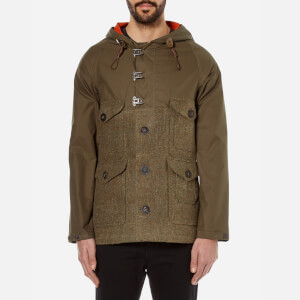 Nigel Cabourn Men's Hybrid Finish Harris Tweed Cameraman Converse Jacket - Army