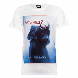 "Camiseta DC Comics Joker ""Why So Serious?"" - Hombre - Blanco"