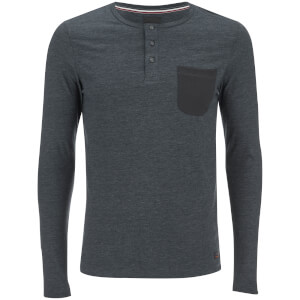 Produkt Men's Contrast Pocket Long Sleeve Top - Black Navy Melange