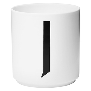 Design Letters Porcelain Cup - J