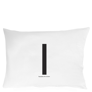 Design Letters Pillowcase - 70x50 cm - I