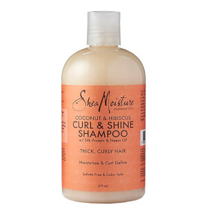 Shampoo de Coco e Hibisco Curl & Shine da Shea Moisture 379 ml