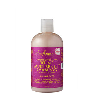 Shea Moisture Shampoing Multi-Action Tous Types de Cheveux au Complexe Superfruit 10 in 1 (379 ml)